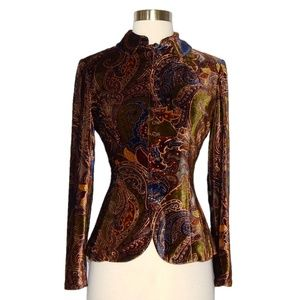Ralph Lauren Black Label Paisley Velvet Jacket 2